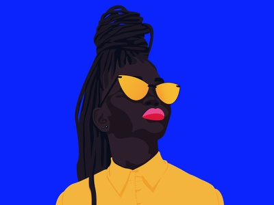 Colorful Black graphic designer design flat woman illustration adobe illustrator inspiration woman minimalism yellow blue colorful blackness black black is beautiful
