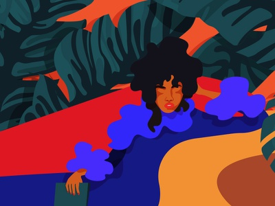 Diva diva jungle design graphic designer flat woman inspiration minimalism adobe illustrator graphic design woman illustration illustration