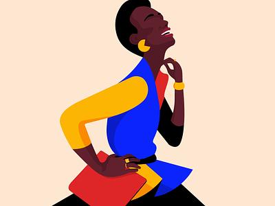 Let's keep smiling smile fashion art vector graphic designer inspiration minimalism adobe illustrator graphic design illustration woman illustration