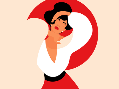 dancing graphic designer art inspiration woman adobe illustrator minimalism graphic design illustration woman illustration