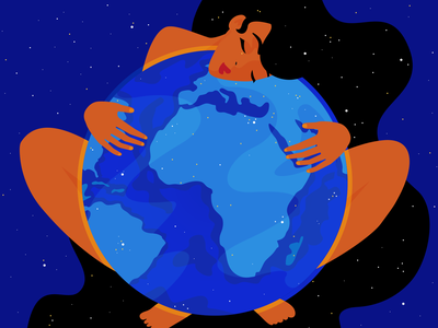 Home spread love planet earth ecology blue planet our planet graphic designer art adobe illustrator graphic design illustration woman illustration