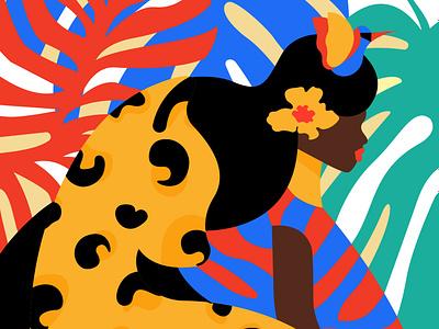 FLORA & FAUNA our planet week illustrator graphic designer inspiration colorful earth jungle africa adobe illustrator graphic design woman illustration fauna flora