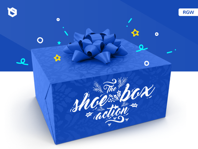 Shoe Box Charity Action Instagram instagram xmas christmas charity branding 2d illustration rgwit
