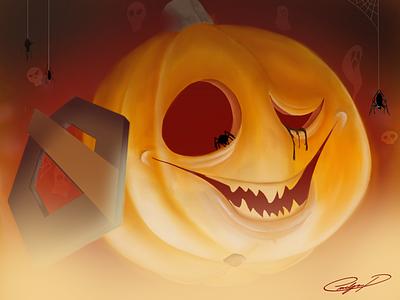 Halloween 2018 orange pumpkin halloween design rgw rgwit