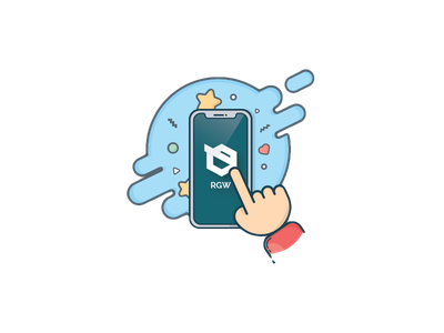 Mobile Apps Development Service app notch iphone mobile 2d design vector illustration rgwit