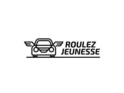 RoulezJeunesse logo v3 design 2d vector branding belgium illustration collectable classic automobiles cars concept logo website rgwit roulezjeunesse