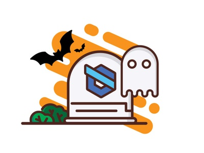 Facebook Halloween post socialmedia 2d illustration design rgwit