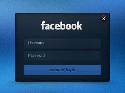 Facebook Login login facebook form ui field password sign in username input
