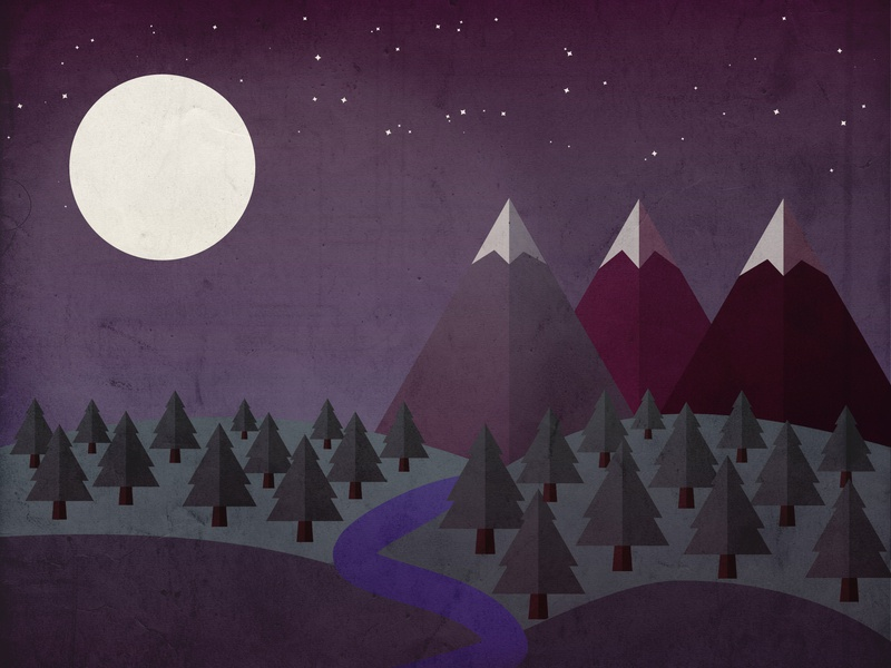 Geometry Night photoshop vector illustration design illustrator