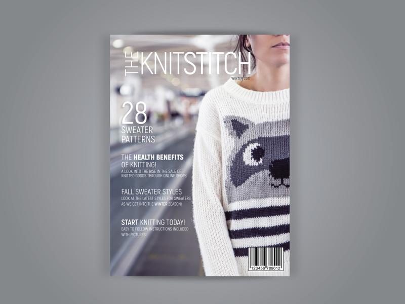 Knitting Magazine Cover layout design layout photoshop indesign design