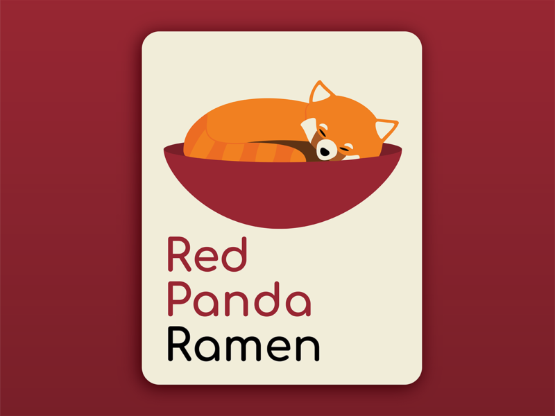 Day 3: Panda Logo panda logo day 3 dailylogochallenge daily logo challenge red panda dlc logo illustrator illustration vector branding design