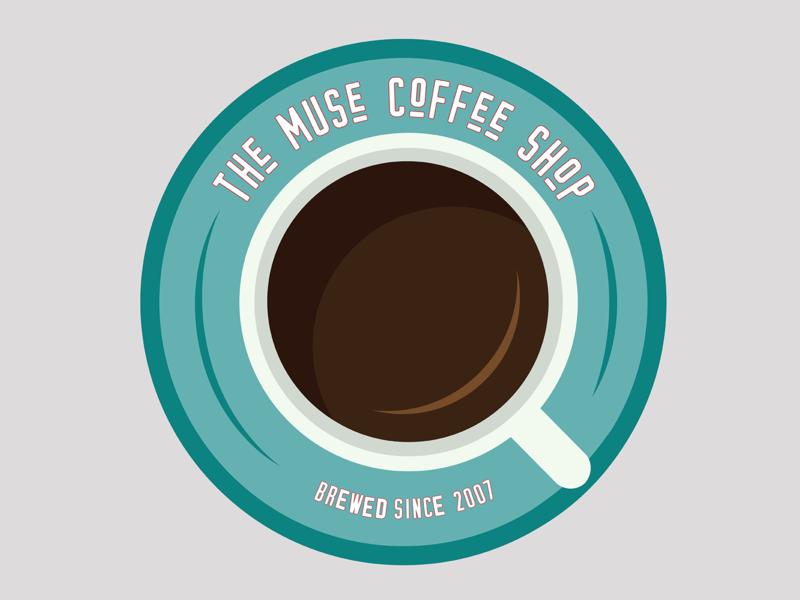 Day 6: Coffee Shop Logo coffee shop logo flat daily logo challenge illustration logo branding vector illustrator design dailylogochallenge dlc day 6