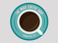 Day 6: Coffee Shop Logo coffee shop logo flat daily logo challenge illustration logo branding vector illustrator design dailylogochallenge dlc day 6