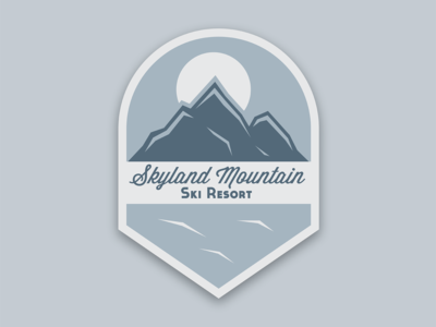 Day 8: Ski Mountain Logo
