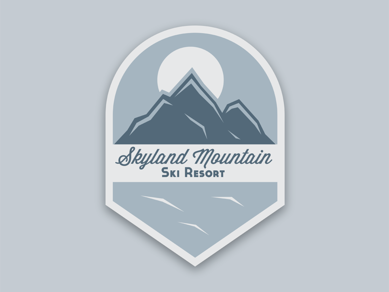 Day 8: Ski Mountain Logo ski mountain logo flat daily logo challenge dlc dailylogochallenge logo illustration branding vector illustrator design