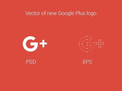 Vector of new Google Plus logo