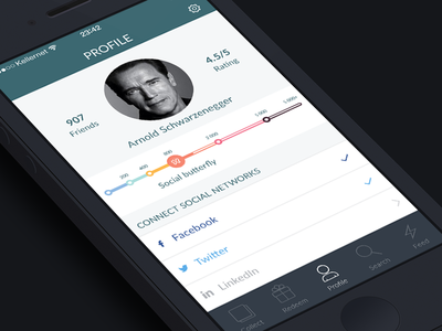 Redesign Scatter app. WIP. Profile