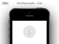 Free Vector Perfect iPhone 5s/SE
