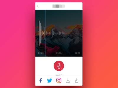 Record Screen ux ui app ios sound wave photo audio record