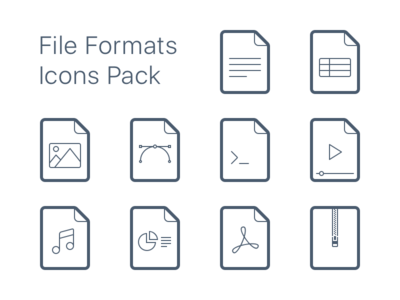 File Formats Icons Pack