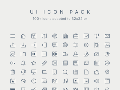 UI Icon Pack (100+, 32 px)