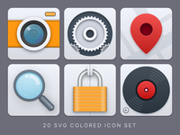 Big and colored SVG icons
