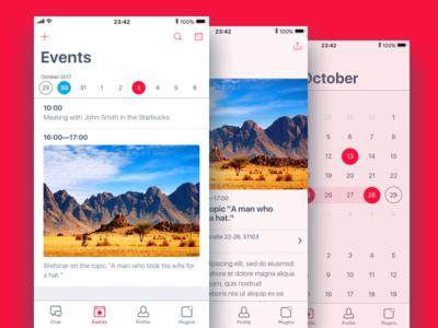 Events in Vitim App