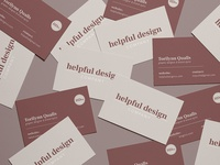 Helpful Design Company business cards