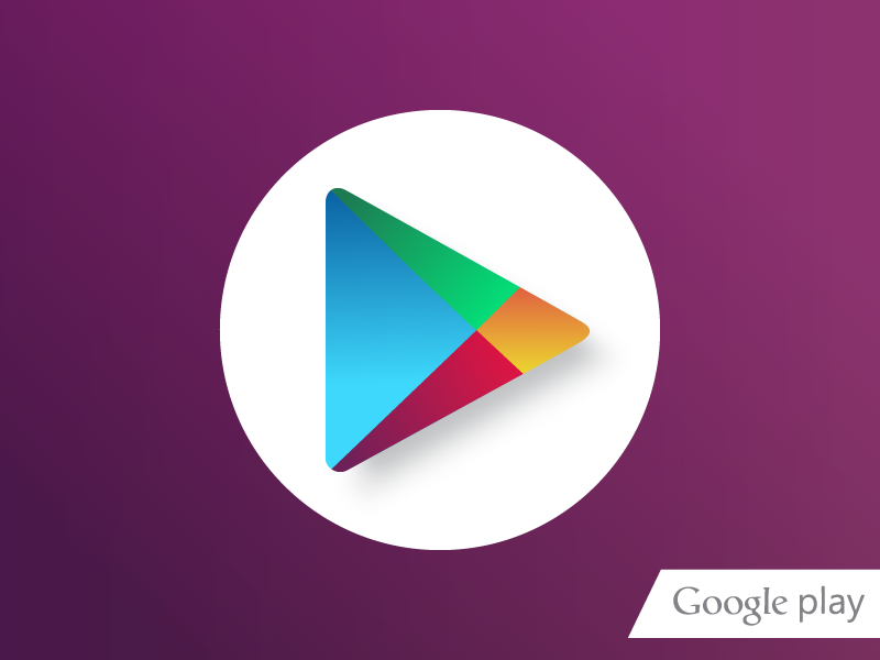Google Play Store (Incorporating new family colours) play ui icon playstore google