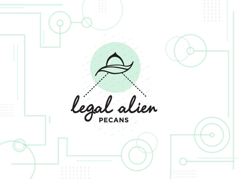 Legal alien logo concept crop circles