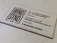 Laser etched wood business cards by ann marie flamenco dribbble etched wood business cards colourmoves