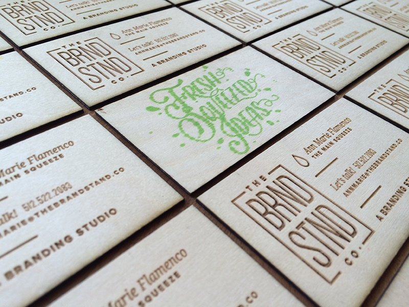Thebrandstand etched business cards