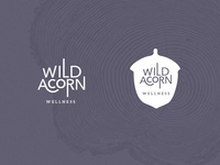 Wild Acorn Wellness Logo Design