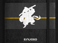Sinuoso Logo placed on Moleskin