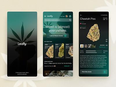 Leafly on Dark weed darktheme redesign design cannabis ui