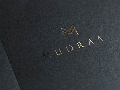 Mudraa - Brochure Cover cover design brochure cover gold foiling fashion classic minimal brand design identity design ideas packaging branding
