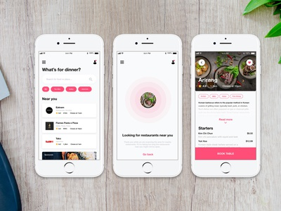 Table Booking App - Concept booking table design arrangment product food and drink apple android ios ui daily restaurant food app skipthedishes deliveroo foodora app delivery food