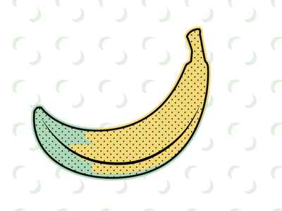 Banana digital illustrator banana yellow design vector adobe illustrator illustration