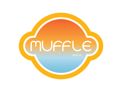 Muffle Logo corporate identity vector adobe illustrator branding design illustration