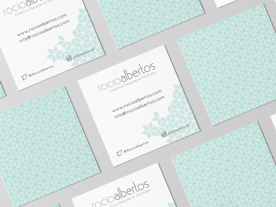 Business Cards Rocio Albertos pattern corporate identity logo vector branding adobe illustrator design business cards