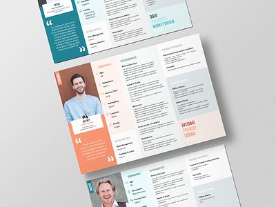 Personas graphic  design design personas branding target audience adobe indesign