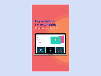 I'm on Dribbble :) dribbble instagram stories instagram motion after effects animation branding design