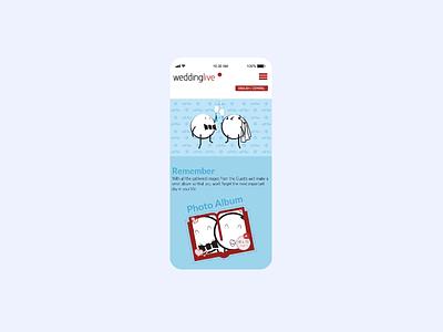 WeddingLive infographic business cards wedding mobile corporate identity ux ui after effects adobe illustrator illustration animation design