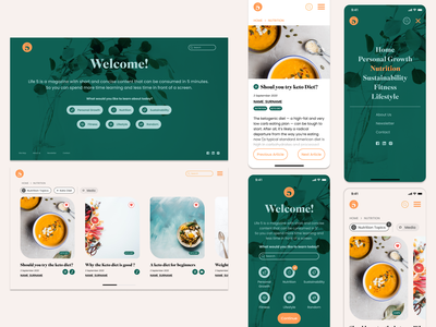 LifeFive Editorial Web and Mobile App mobile app web editorial uxdesign ui ux