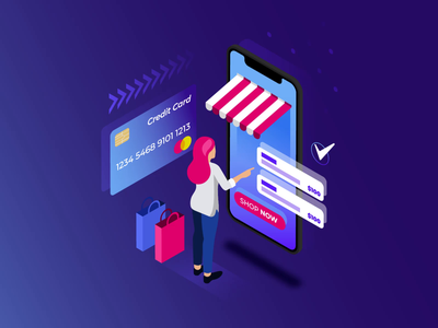 Isometric Ecommerce Concept Illustration Loop Animated Video loop animation 2d animation video ecommerce