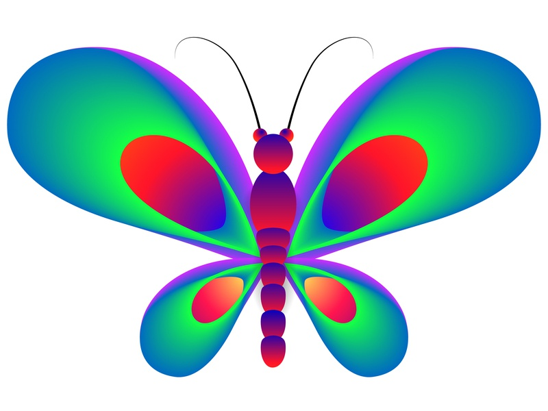 Abstract Butterfly Vector minimal logo vector icon design flat illustration