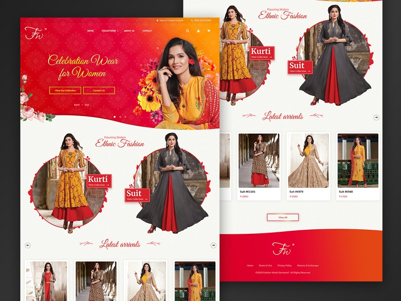 Fashion World Garments Pvt. Ltd. colorful design illustration graphic  design wordpress development website design