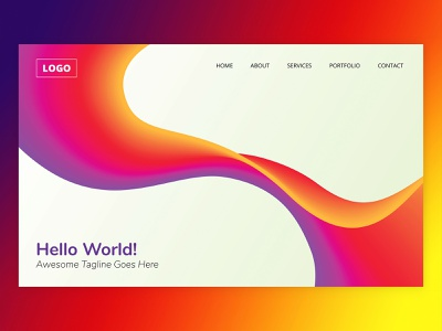 Gradient Background Header header design illustrator vector art