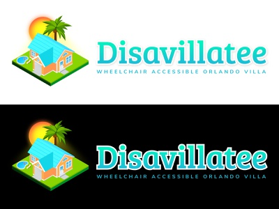 Disavillatee Logo Design isometric vacation rental vector logo