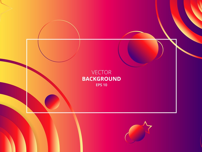 Abstract Geometric Circle Shapes Vector Background circles art background design illustration vector